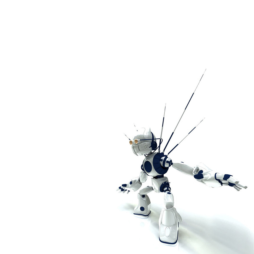 Spiked_White_Robot