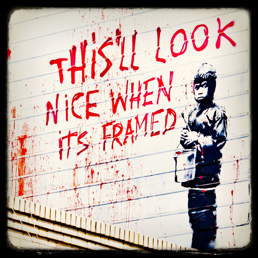 Banksy in San Fransisco by Thomas Hawk