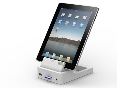 sneak peak at sleekgear 39 s ipad dock apple ipad forum. Black Bedroom Furniture Sets. Home Design Ideas